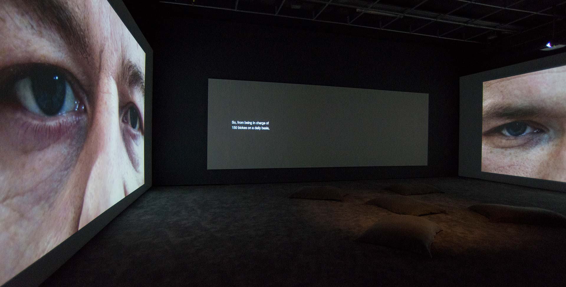 The Seperate System - two-screen installation